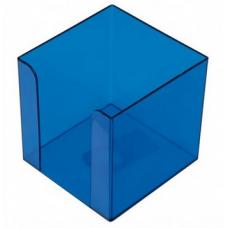 Бокс для бумаги 90х90х90мм, JOBMAX, голубой