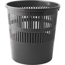 Корзина для бумаг с прорезями 8л, JOBMAX, черная