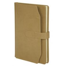 Ежедневник недатированный CREDO, A5, 320 стр. золотой