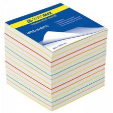 "Блок бумаги ""Радуга"" JOBMAX 90х90х70мм, не склеенный"