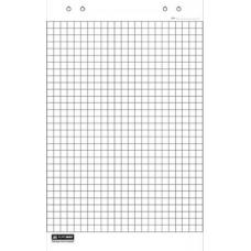 Блок бумаги для флипчартов, 10 листов, клетка, 64 х 90 см.