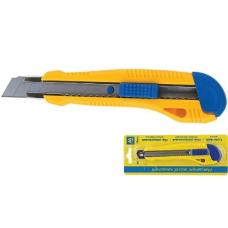 Нож универсальный JOBMAX 18мм, мет. направляющая, пласт. корпус