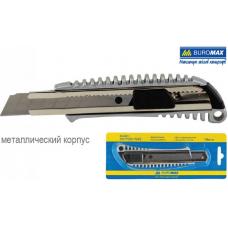Нож универсальный 18мм, мет. направляющая, мет. корпус