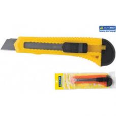 Нож канцелярский 18мм, пластиковый корпус, мех. фиксатор лезвия, JOBMAX