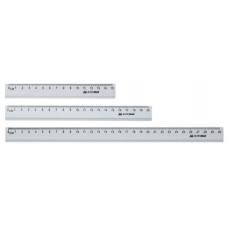 Линейка алюминиевая 15см, цвет: серебро