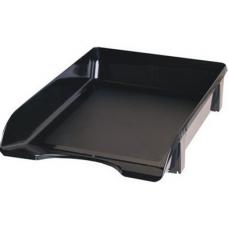 Лоток для бумаг горизонтальный JOBMAX, (черный)