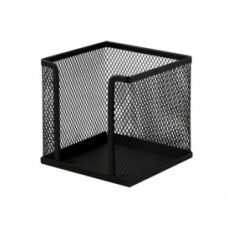 Бокс для бумаги 100х100x100мм, металлический, черный