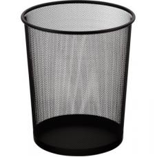 Корзина для бумаг круглая 295x295x345мм, металлическая, черная