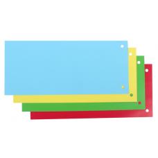 Разделитель листов 240 * 105 мм, картон, цветной, 100 шт.