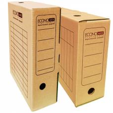 Бокс архивный картонный Economix, 100 мм коричневый