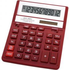 Калькулятор SDC-888 ХRD 12разр, красный