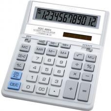 Калькулятор SDC-888 ХWH 12разр, бело-серый